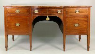 A George III mahogany boxwood and ebony