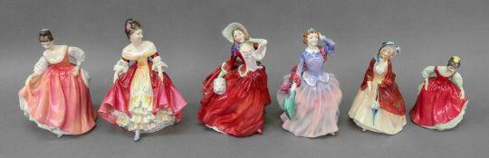 Six Royal Doulton figures, Blithe Mornin