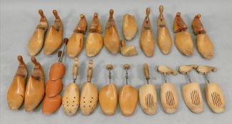A collection of vintage wooden shoe tree