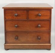 A Victorian mahogany chest, fitted with