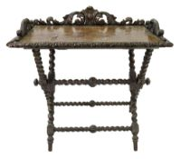 A Butlers Victorian oak tray and stand,