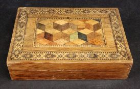 A Victorian rosewood parquetry Tunbridge