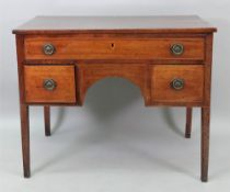 A George III mahogany boxwood and ebony