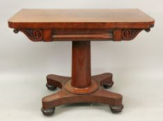 An early Victorian mahogany fold-over to