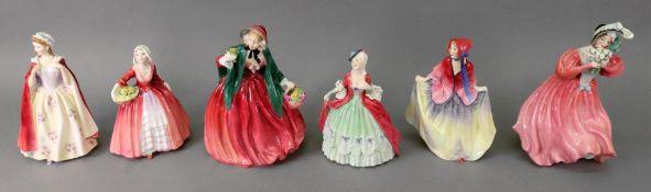 Six Royal Doulton figures, Marguerite HN