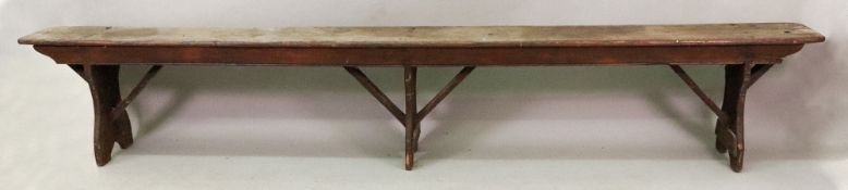 A Victorian rustic narrow stained pine b