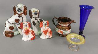 Four Staffordshire pottery figures of Ki
