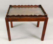 A George III rectangular mahogany tray,