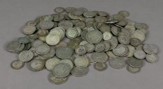 A large collection of British silver coi