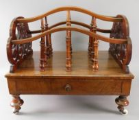 A Victorian walnut three division Canter