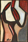 Jean Atlan (1913-1960), Salamandre, oil on canvas, signed, 81cm x 54cm. ARR Illustrated.