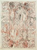Hermann Nitsch (b.1938), Untitled, colour lithograph, signed and inscribed, 120cm x 80cm.