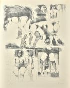 Adolf Frohner (1934-2007), Bindungen, a folio containing ten etchings with aquatints,