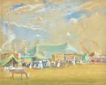 Samuel John Lamorna Birch (1869-1955), 'Corpus Christi Fair', watercolour and bodycolour, signed,