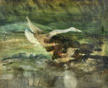 Sidney Nolan (1917-1992), Leda III, watercolour, 49cm x 59cm. Illustrated.