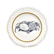 A Soviet porcelain plate from the `Rose and Carnation' service, State Porcelain Manufactory,