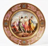 A `Vienna' porcelain plate, circa 1900,