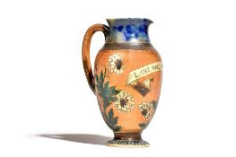 A Martin Brothers stoneware jug, dated 1882,