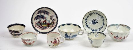 A group of English porcelain tea and coffee wares, second half 18th century,
