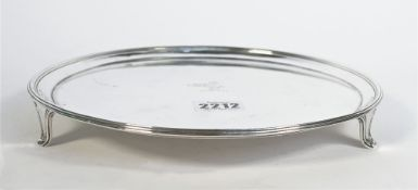 A George III silver salver, of plain circular form, crest engraved to the centre,