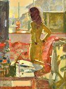 Ken Howard (b.1932), Sarah, Mousehole, oil on canvas, signed, 40cm x 29cm. ARR Illustrated.