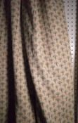 Charles Spencer A pair of lined thistle pattern curtains, each 113cm wide x 220cm high.