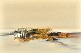 Kit Barker (1916-1988), Dunes of Caldy, oil on canvas, signed, inscribed and dated '66 on reverse,