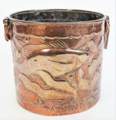 A Newlyn style copper jardiniere, late 19th century / early 20th century,