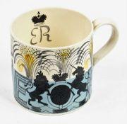 A Wedgwood earthenware mug designed by Eric Ravilious, 1937,