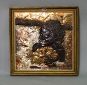 'JOHN CORBETT', a mid-20th century copper embossed picture depicting a tribal figure,