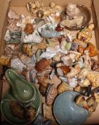 A quantity of Wade Whimsies ceramics.
