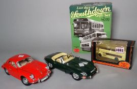 Toys, a group of mixed large die-cast vehicles, mostly Burago, including Mercedes,