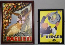 Two modern reproduction French advertising posters, the largest 69cm x 88cm, (2).