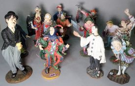 A large group of modern 'Duncan Royal' collectors figures, mainly clowns, (qty).