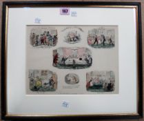 A group of assorted prints and engravings including 'Christmas Time' after George Cruickshank,