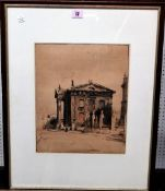 Sir William Nicholson (1872-1949) The Clarendon Building, lithograph, printed in colour,