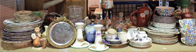 Ceramics, including Noritake dinner and tea wares, Spode Heritage Candles ltd.