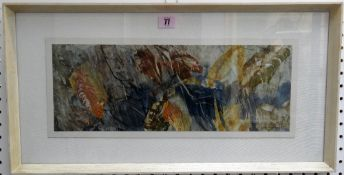 Frederick Donald Blake (1908-1997), Autumn leaves, watercolour, signed, 16.5cm x 46cm.