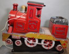 'Blue Ball', a coin operated ride on train, 116cm wide x 100cm high.
