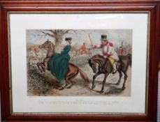John Leech (1817-1864), Gone Away; A friendly mount, two chromolithographs, each 60cm x 80cm, (2).