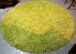 'MISSONI HOME',a 20th century machine made circular green rug, 220cm diameter,