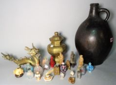 Asian interest; scent bottles, miniature items and sundry, (qty).