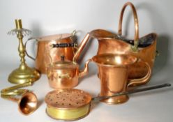 A large quantity of mostly early 20th century copper and brassware, (qty.).