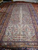 A Fereghan kelleh carpet, Persian,