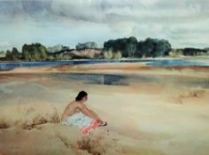 Sir William Russell Flint (1880-1969), Anne-Marie by the Loire, colour reproduction,