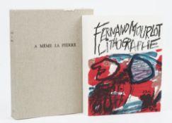 MOURLOT, Fernand (1895-1988). A Même la Pierre. Fernand Mourlot. Lithographe.