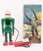 A West German 'Dux Astroman' plastic mechanical robot, circa 1960, boxed.