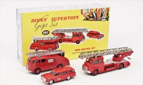 A Dinky Supertoys 957 gift set. 'Fire Service', boxed.