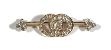 A late 19th century/early 20th century diamond-set bar brooch,