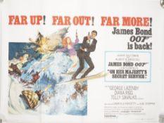 JAMES BOND: 'On Her Majesty's Secret Service', United Artists, (1969) UK.